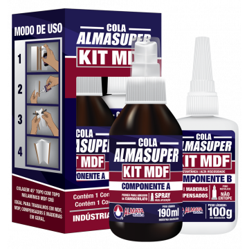 ALMASUPER KIT MDF COLA INSTANTANEA A190ML/B100G