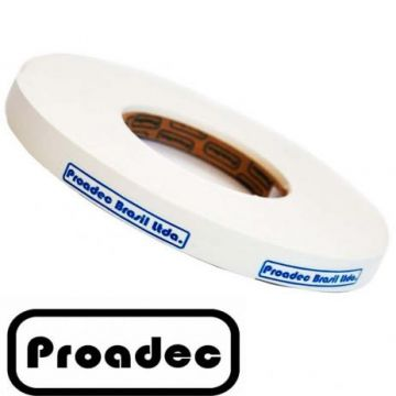 FITA BORDA PERFIL PVC 22MM BRANCO TX - ROLO 50 METROS