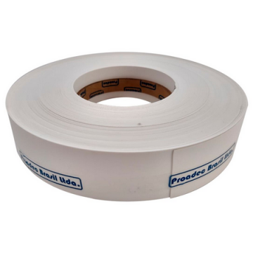 FITA BORDA PERFIL PVC 35MM BRANCO TX - ROLO 50 METROS
