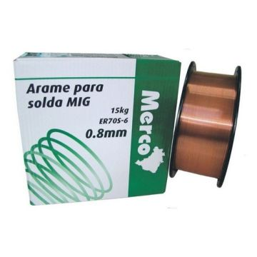 ARAME SOLDA MIG 0,8MM 15KG - MERCO
