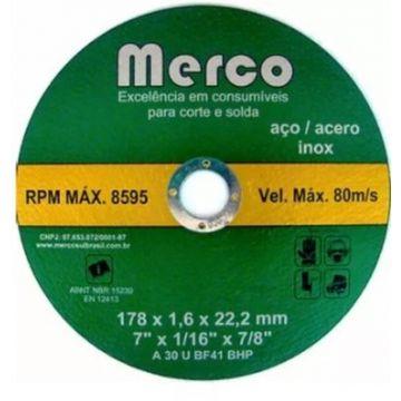 DISCO DE CORTE INOX 178 X 1,6 X 22,2MM - 7