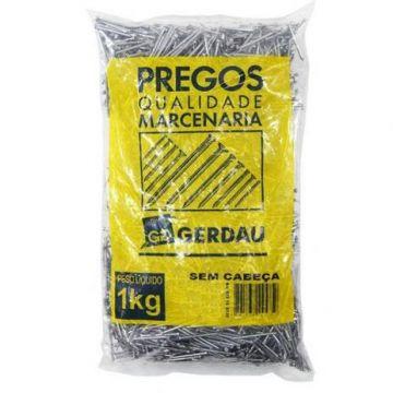 PREGO S/ CABECA 13 X 15 - PACOTE 1 KG